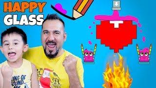 RENKLİ BARDAKLARIMIZ ÇOK MUTLU! | HAPPY GLASS OYNUYORUZ (LEVEL 73-87)