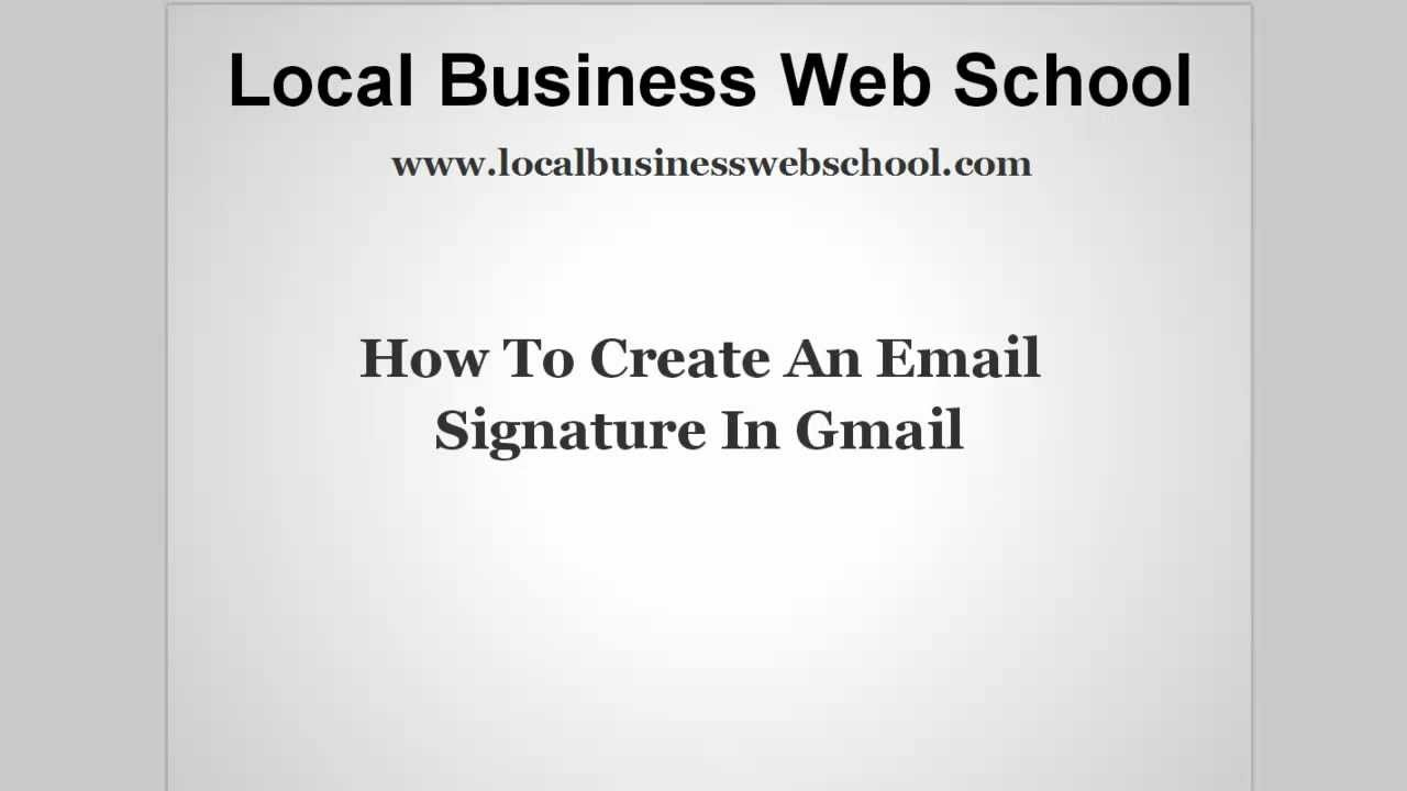 how to make signature on gmail