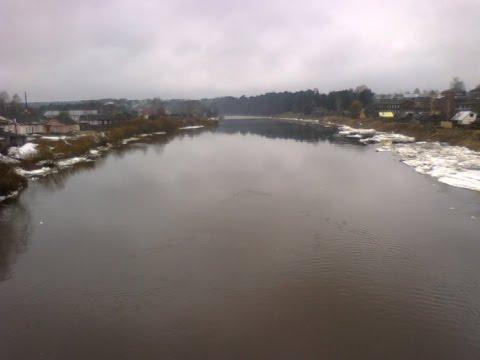 Паводок в Вологодской области: в Никольске вода подошла к жилым домам