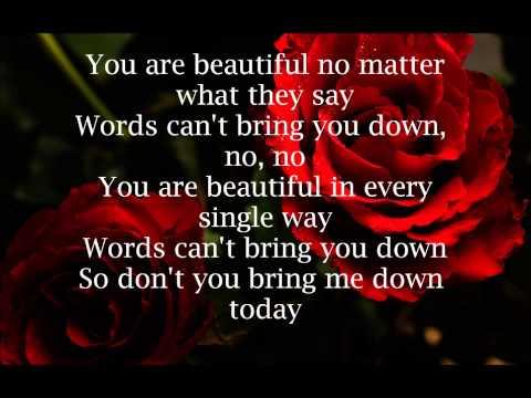 Christina Aguilera Beautiful Lyrics