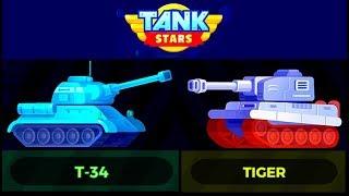 TANK STARS: T-34 VS TIGER (gameplay)