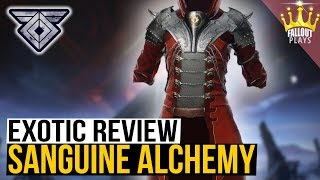 destiny 2: OP EXOTIC! Exotic Review - Sanguine Alchemy (Warmind)