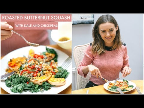 AUTUMN RECIPE | Roasted Squash with Kale and Chickpeas