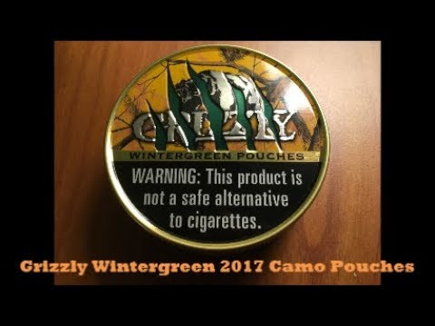2017 Grizzly Wintergreen Pouches Camo Can