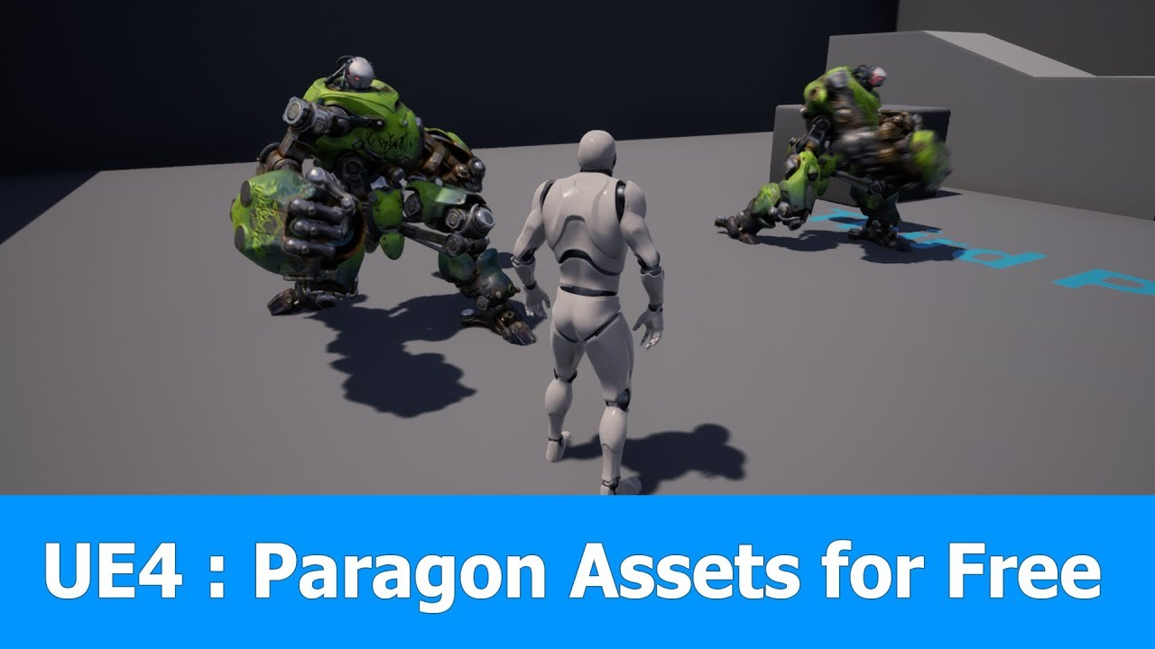 Unreal Engine 4 19 : Free Paragon Assets