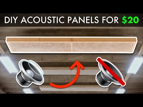 DIY Sound Absorption Acoustic Panels For $20! // How To Build