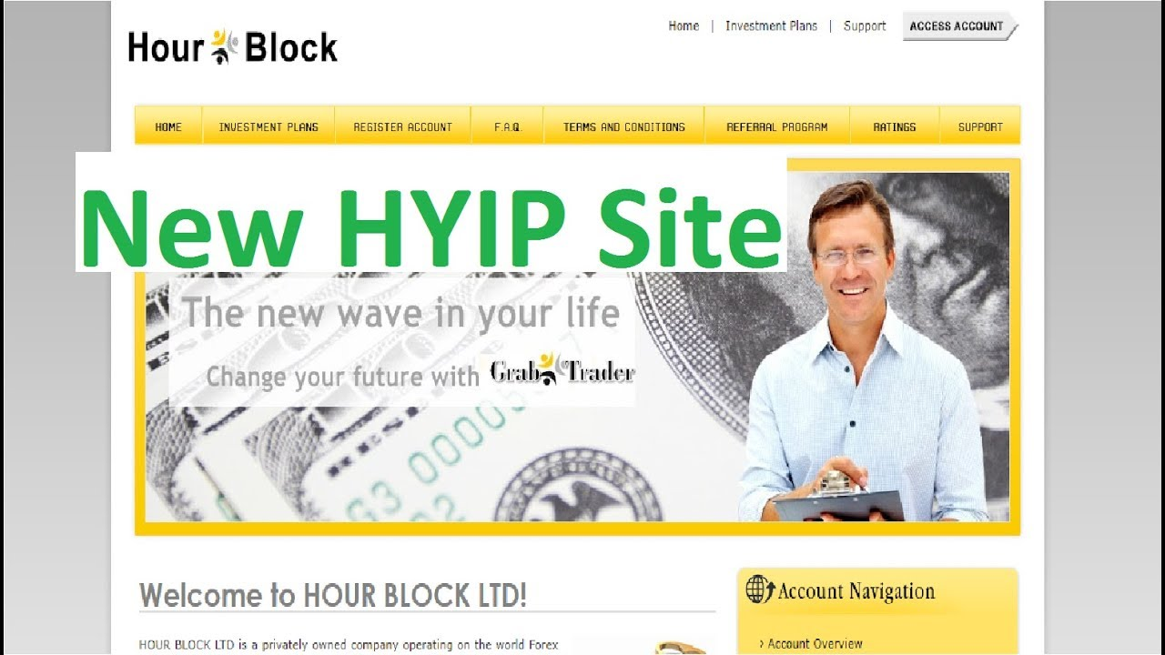 Grab Trader - New HYIP Site 100% Paying - 5% Hourly For 24 Hours - Min  Deposit 1$