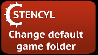 Stencyl change game folder