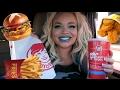 Wendy's Car Eating Show (MUKBANG)   WATCH ME EAT