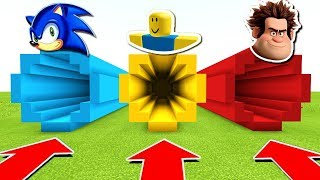DO NOT CHOOSE THE MAUVAIS TUNNEL MINECRAFT!! ROBLOX, SONIC, RALPH
