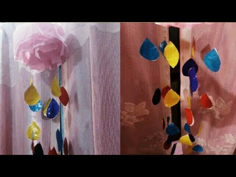 Easy &  Beautiful Tissue Paper Clouds with Falling Drops  / DIY How to make Tissue Paper clouds..