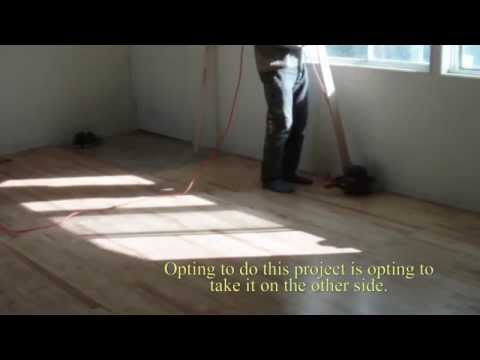 DIY Installing used basketball court in mobile home. (Not re