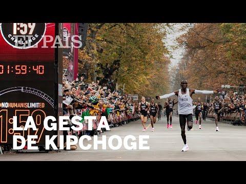Eliud Kipchoge, primer atleta que baja de las dos horas en