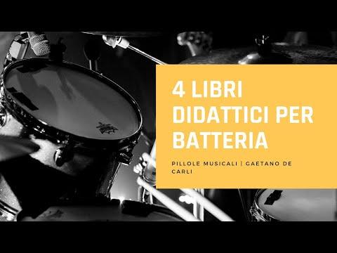 4 LIBRI DIDATTICI PER BATTERIA - Pillole musicali - Music All scuola di musica