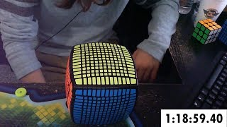 13x13 Rubik's Cube Solved in 1:18:59.40 (Timelapse) thumbnail
