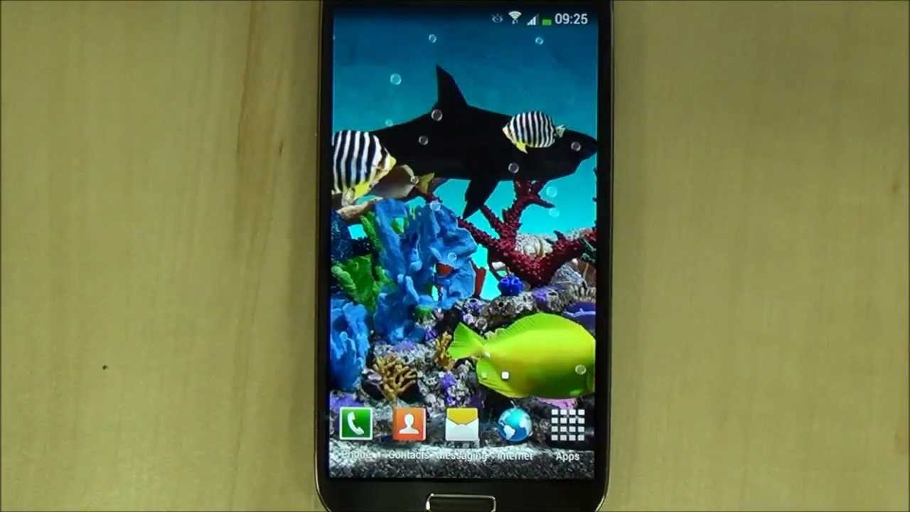 3d Aquarium Live Wallpaper For Android Youtube