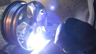 Сварка алюминиевого диска(Сварка алюминиевого диска Страница в вк http://vk.com/evgenii_kurguzkin., 2015-08-09T19:50:25.000Z)