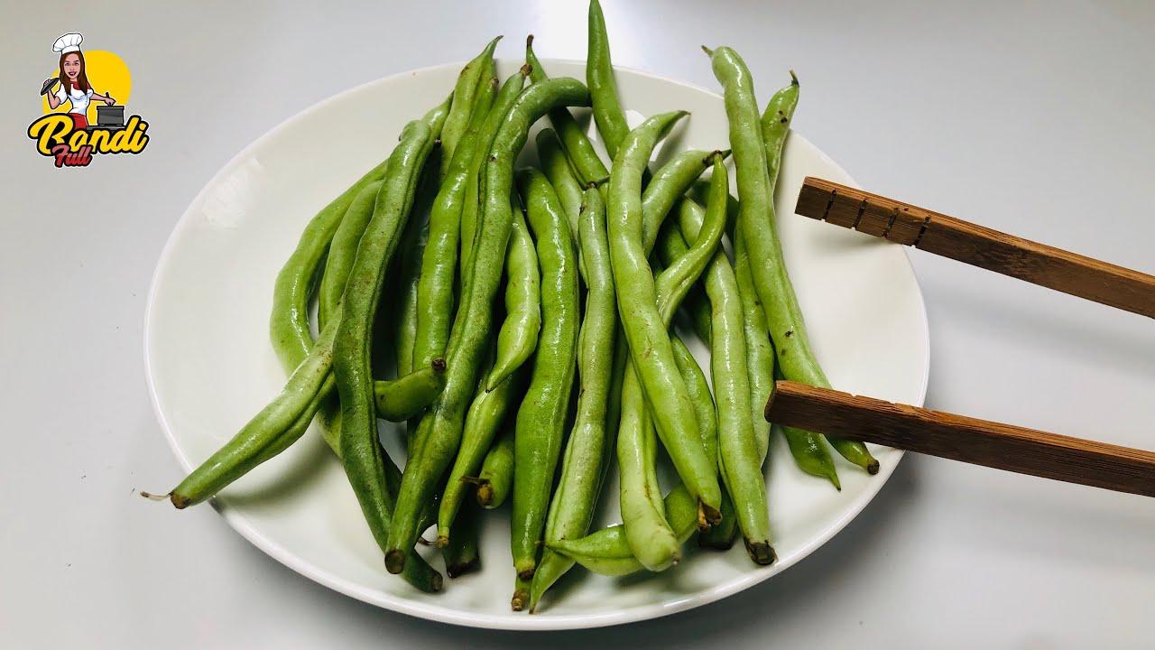 පාට රස ගුන තියාගෙන තෙල් බින්දුවක්වත් නැතුව හදන බෝංචි මැල්ලුම | Green Bean Curry |Bonchi Curry Mallum