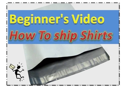 Beginner's Video - How to Ship Shirts-  Selling On Ebay- Save Money shipping Items-  *EASY*