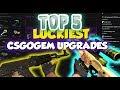 TOP 5 LUCKIEST csgogem upgrades!