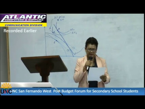 UNC San Fernando West Post Budget Forum for Secondary School Students