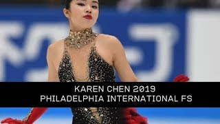 Karen Chen 2019 Philadelphia International FS