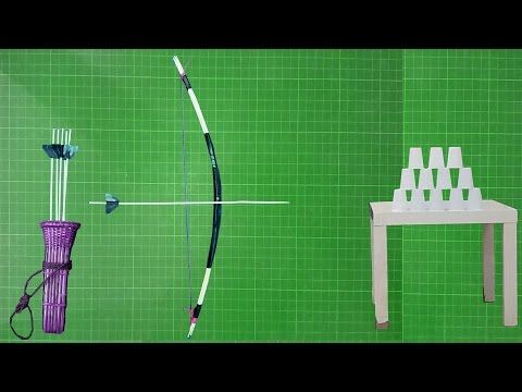 How To Make A Bow And Arrows Simple And Easy At Home    You Can Do This