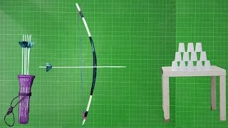 How To Make A Bow And Arrows Simple And Easy At Home || You Can Do This