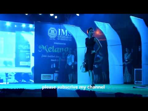 fashion show video in ims college ghaziabad