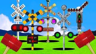 【踏切アニメ】モグラたたきなふみきり♪ \ピコ/ | Whack-a-mole Various railroad crossings and trains!