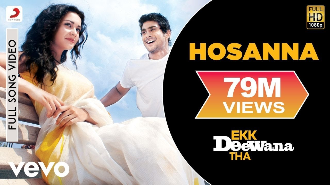 A.R. Rahman - Hosanna Best Video|Ekk Deewana Tha|Amy Jackson|Prateik Babar|Leon|Suzanne