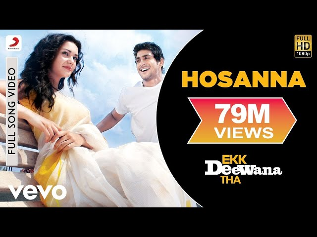 A.R. Rahman - Hosanna Best Video Ekk Deewana Tha Amy Jackson Prateik Babar Leon Suzanne