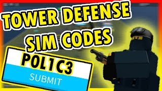 5 *INSANE* CODES IN TOWER DEFENCE SIMULATOR! (Roblox)