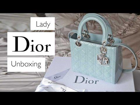 Lady Dior Blue Patent Unboxing || Nano Comparison