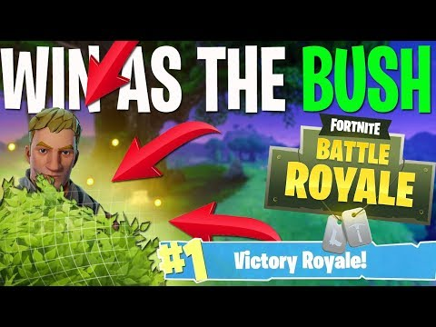 HOW TO WIN AS A BUSH! (Fortnite Battle Royale)