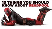 13 Things You Should Know About Deadpool
