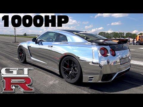 1000HP Nissan GTR R35 w/ Akrapovic Exhaust 1/2 Mile Race