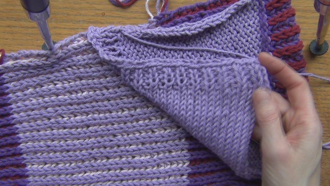 Creating Pockets for a Scarf Knit & Crochet - YouTube