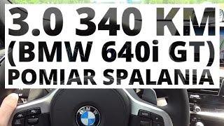 BMW 640i GT 3.0 340 KM (AT) - pomiar zużycia paliwa