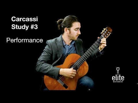 Carcassi Study #3 - Performance Preview EliteGuitarist.com Online Classical Guitar Lessons