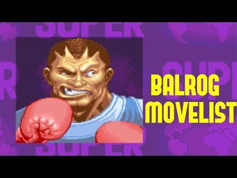 Super Street Fighter II: Turbo - Balrog Move List