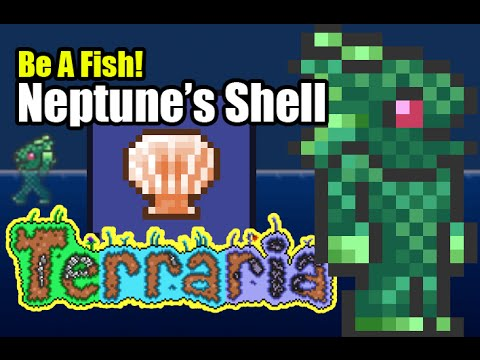 Be A Fish In Terraria With Neptune 39 S Shell Merfolk