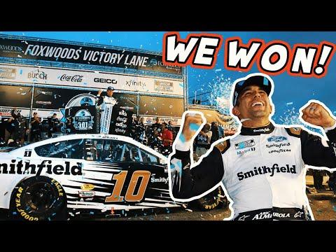 WE WON at New Hampshire! Full Day with Aric Almirola   Beyond the 10 - Видео онлайн