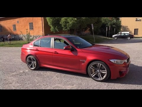 [4k] F80 BMW M3 Sedan 2014 in everyday traffic through Stockholm and GRIP problems