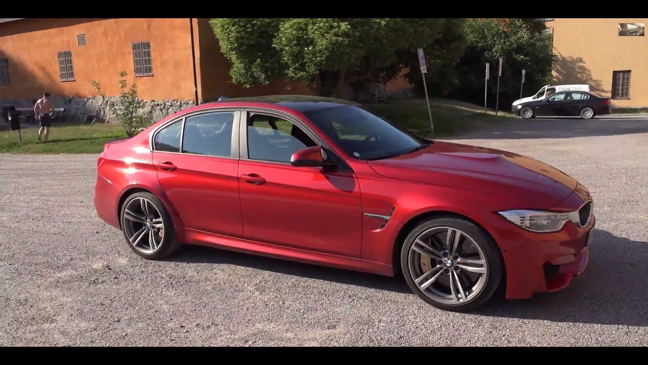 4k F80 BMW M3 Sedan 2014 in everyday traffic through ...