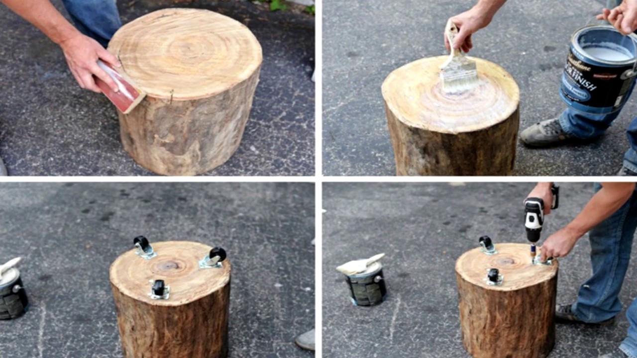 Поделки из спилов дерева. 70 идей для дачи и дома.