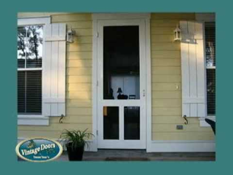 Screen Doors Storm Doors Exterior Doors Interior Doors Dutch Doors YouTube