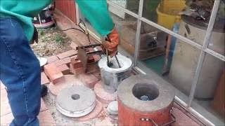 Metal Melting Furnace Build (No Welding) - Furnace In Action