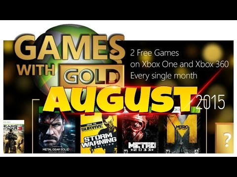 Free Games With Gold August 2015 Games With Gold Xbox One
