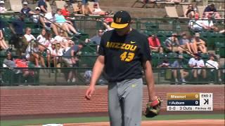 HIGHLIGHTS: Missouri Baseball Takes Down Auburn 5-0